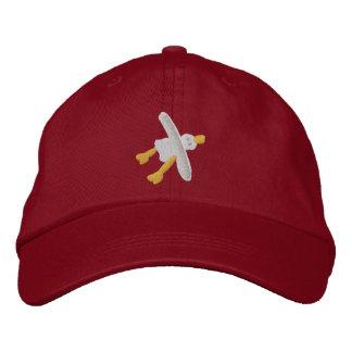 Art Cap: Smart Seagull Design Embroidered Baseball Hat