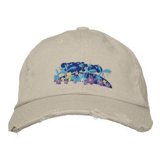 Art Cap: Tropical Moonlight Embroidered Baseball Cap