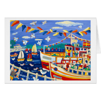 Art Card: Beany Hats and Pleasure Boats Greeting Card