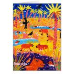 Art Card: Brazilian Capybara. Pantanal Brazil