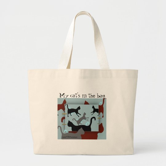 Art cats: My cat's in the bag