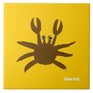 Art Ceramic Tile: John Dyer Cornish Crab Large Square Tile