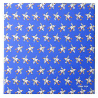 Art Ceramic Tile: John Dyer. Cornish Seagulls Large Square Tile