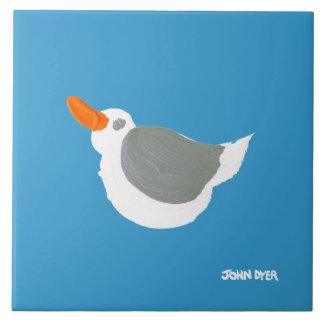 Art Ceramic Tile: John Dyer Flying Seagull Large Square Tile