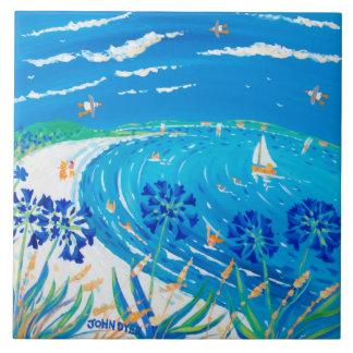 Art Ceramic Tile: John Dyer Scilly Blue View Large Square Tile