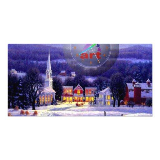 Art Christmas Photo Card