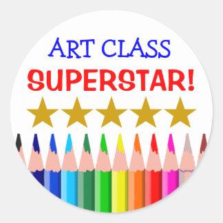 Art Class Superstar Classic Round Sticker