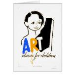 Art Classes Children 1940 WPA Card