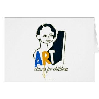 Art Classes for Children - WPA Poster - Card