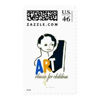 Art Classes for Children - WPA Poster - Postage Stamp
