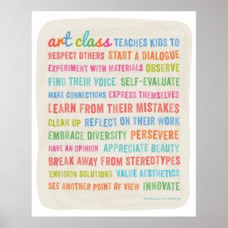 Art Classes Teach Kids 24 x 30 Poster