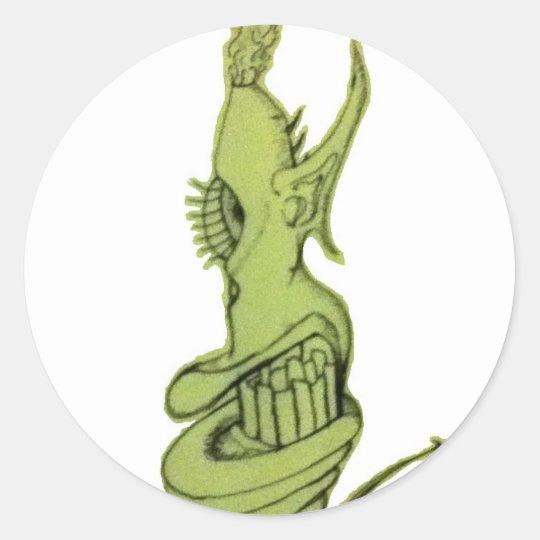art classic round sticker