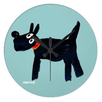 Art Clock: John Dyer Scotty Dog