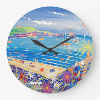 Art Clock: Mother Ivey's Bay Cornwall Large Clock