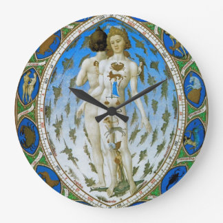 Art Clock with Ancient Astonomy Astrology Image