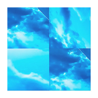 Art - Clouds Through a Blue Window Canvas Print