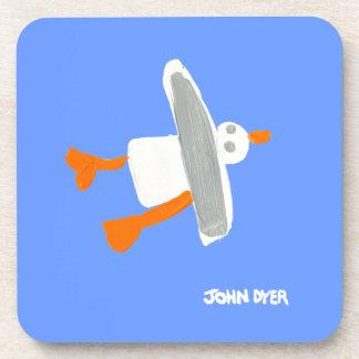 Art Coaster: John Dyer Seagull Beverage Coaster
