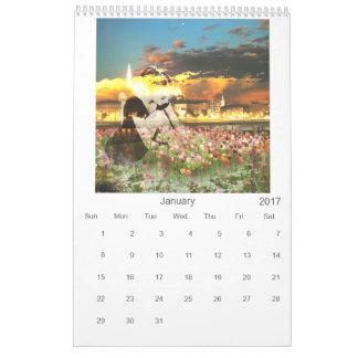 Art Collage Inspirational Nature Day Dream Calendar