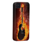 Art Collection:  Guitar on Fire iPhone 4 Case-Mate Case