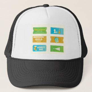 Art collection with Xmas tickets Trucker Hat