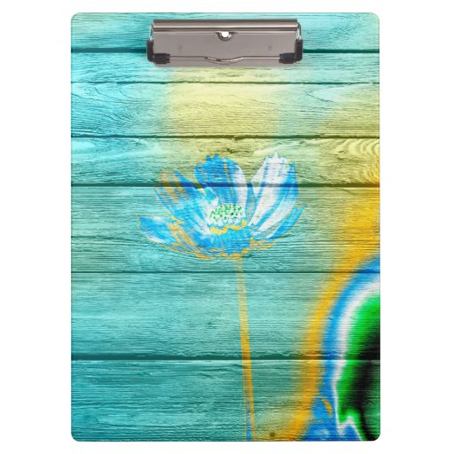 Art Color Acrylic Flower Painting On Wood Clipboards Zazzle