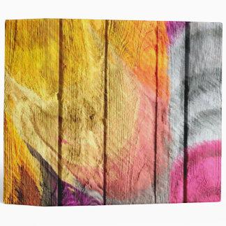 Art Color Acrylic Painting on Wood #2 Binder