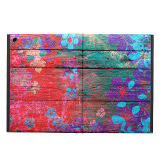 Art Color Flower Painting on Wood #2 Case For iPad Air