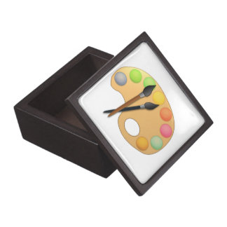Art Color Palette with Two Brushes Premium Keepsake Box