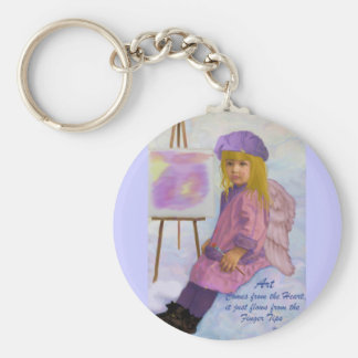 Art Comes from the Heart Keychain