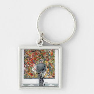 Art Connoisseur by Norman Rockwell Keychain
