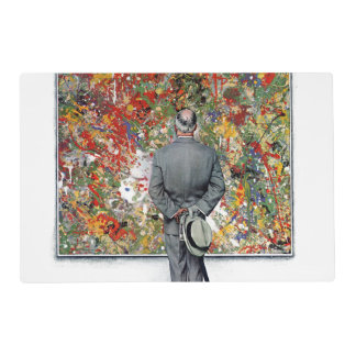 Art Connoisseur by Norman Rockwell Placemat