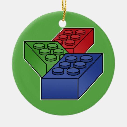 Art - Construction Blocks for Kids Christmas Tree Ornament