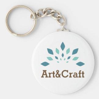 Art & Craft Basic Round Button Keychain