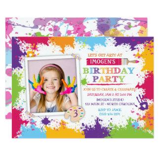 Art Craft Paint Birthday Party Invitation