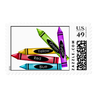 Art  Crayons Postage Stamps