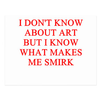 ART critic Postcard