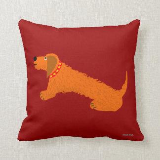 Art Cushion: Dachshund Dog. Sausage Dog. Digory Throw Pillow