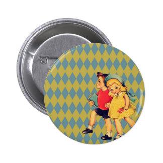 art cute retro children vintage valentines day pins