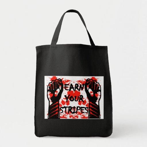Art Czar - Earn Your Stripes - Tote Bag