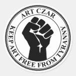 Art Czar - Fist Seal - Round Sticker