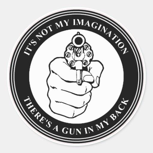 Art Czar - Gun Seal (BW) - Round Sticker