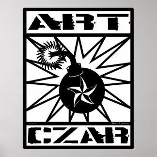Art Czar Star Bomb Poster Print