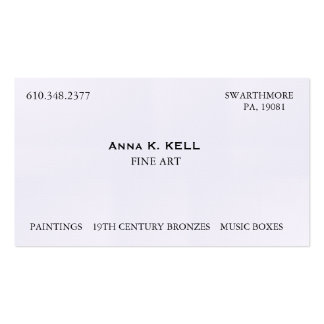 Art Dealer Double-Sided Standard Business Cards (Pack Of 100)