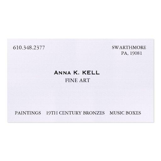 Art Dealer Business Cards