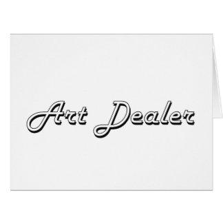 Art Dealer Classic Job Design Large Greeting Card