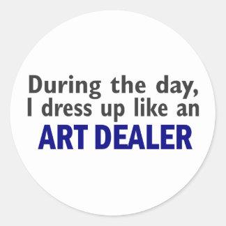ART DEALER During The Day Round Sticker