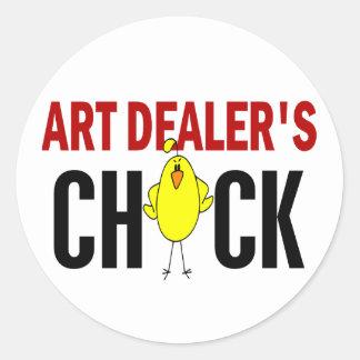 Art Dealer's Chick Round Stickers
