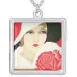 Art Deco 1920 Flapper Vintage Art Necklace 4