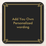 """Art Deco 1920 style personalised coaster<br><div class=""""desc"""">add your own wording use ideal for wedding parties etc</div>"""