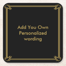 Art Deco 1920 style personalised coaster